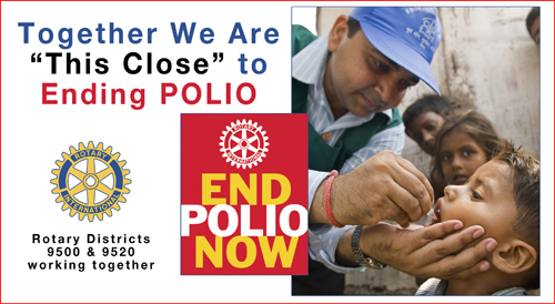 Rotarians partner together on National Immunization Day in Moradabad, India.