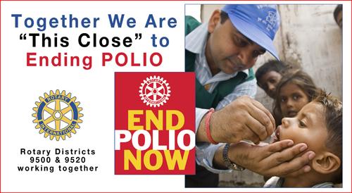 Rotarians partner together on National Immunization Day in Moradabad, India.