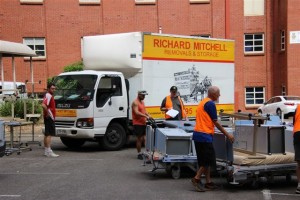 Our Removalist helpers arrive