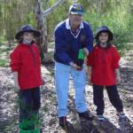 Rex with Vale Park Primary tree planters